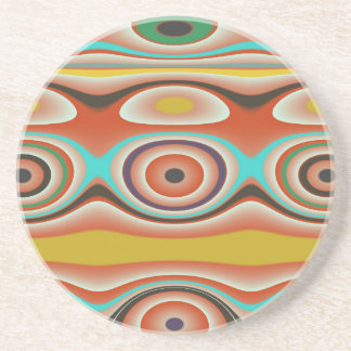 Oval and Circle Pattern Design in Southwestern Drink Coasters