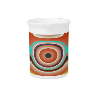 Oval and Circle Pattern Design in Southwestern Pitcher