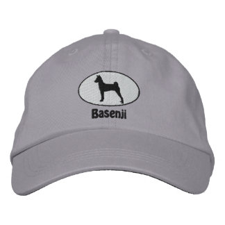 Oval Basenji Embroidered Hat