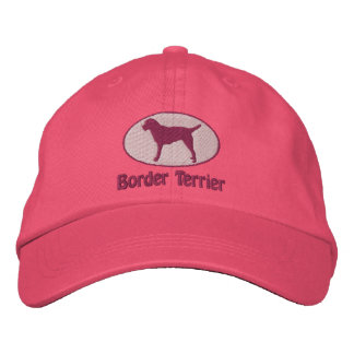 Oval Border Terrier Embroidered Hat Pink