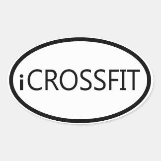 Oval Bumper Sticker - iCROSSFIT
