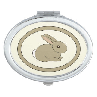 Oval Bunny Mirror Mirror For Makeup