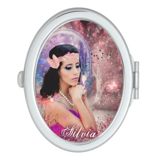 Oval Compact Mirror Silvia