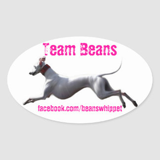 Oval Decal Team Beans Oval Sticker