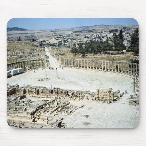 Oval forum from Temple of Zeus, Roman city of Jera Mousepads