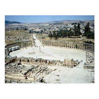 Oval forum from Temple of Zeus, Roman city of Jera Postcard