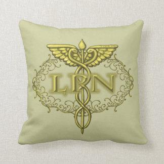 Oval Gold Caduceus Nurse Cushion