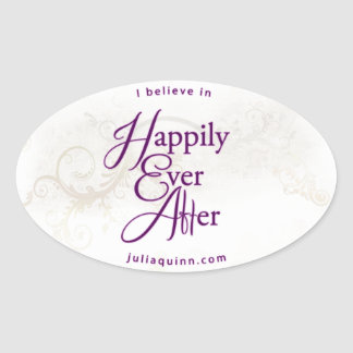 Oval Happily Ever After Sticker