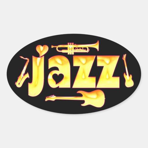 Oval Jazz Stickers