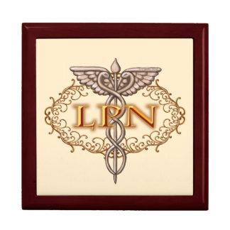 Oval LPN Caduceus Nurse Gift Box
