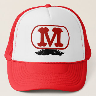 Oval M with Mustache Trucker Hat