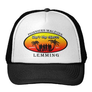 Oval model staff palm trees 2 trucker hats
