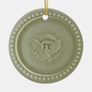 Oval Office Ceiling, Presidential USA Seal Ornamen Ceramic Ornament