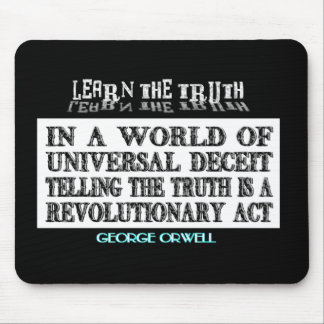 OVAL ORWELL UNIVERSAL DECEIT MOUSEPAD