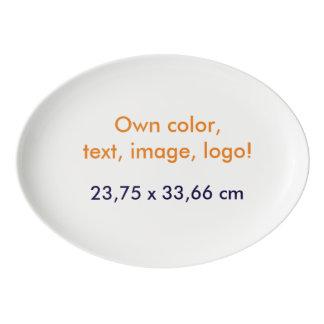 Oval Platter Own Color - uni White