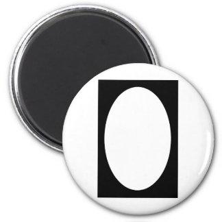 Oval Portrait Black Solid FG The MUSEUM Zazzle Gif Magnet