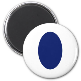 Oval Portrait Blue DK Solid The MUSEUM Zazzle Gift Refrigerator Magnets