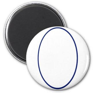 Oval Portrait Blue DK The MUSEUM Zazzle Gifts Magnets