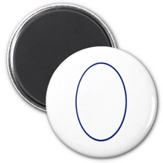 Oval Portrait Blue DK The MUSEUM Zazzle Gifts Fridge Magnet