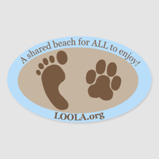 Oval Sticker: LOOLAorg Oval Sticker