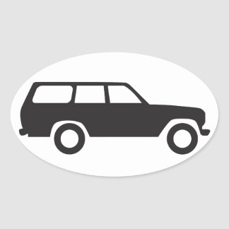 Oval Toyota Land Cruiser 60 Series Icon Sticker