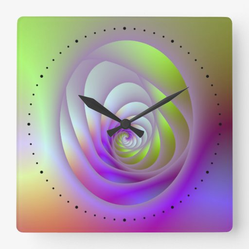 Oval Window Spiral Wall Clock