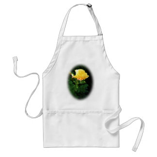 Oval Yellow Rose Painting Standard Size Apron
