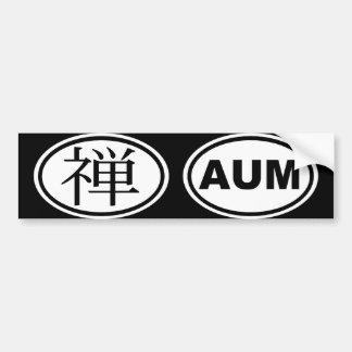 Oval Zen Auto Sticker Bumper Sticker