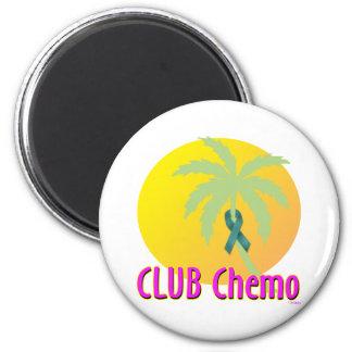 Ovarian Cancer 6 Cm Round Magnet