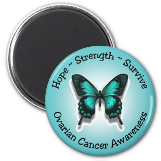 Ovarian cancer awareness magnet