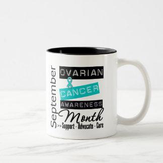 Ovarian Cancer AWARENESS Month 4 Two-Tone Mug