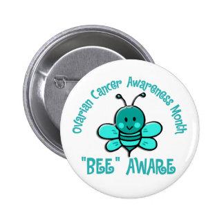 Ovarian Cancer Awareness Month Bee 1 2 Button