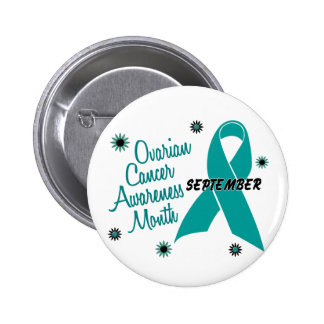 Ovarian Cancer Awareness Month Flowers 1 6 Cm Round Badge