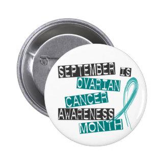 Ovarian Cancer Awareness Month L1 6 Cm Round Badge