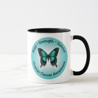 Ovarian cancer awareness mug