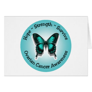 Ovarian cancer awareness notecard note card