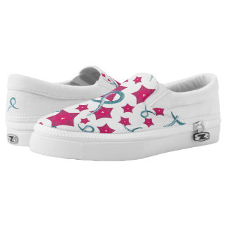 Ovarian Cancer Awareness Slip On Shoes