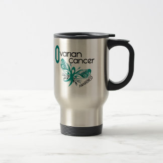 Ovarian Cancer BUTTERFLY 3.1 Stainless Steel Travel Mug