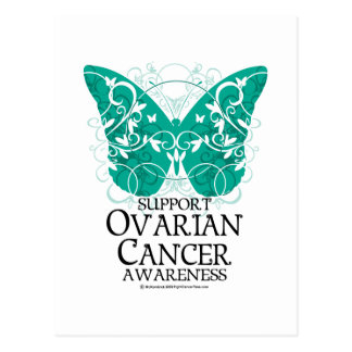 Ovarian Cancer Butterfly Postcard