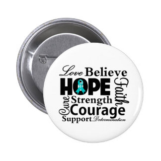 Ovarian Cancer Collage of Hope 6 Cm Round Badge