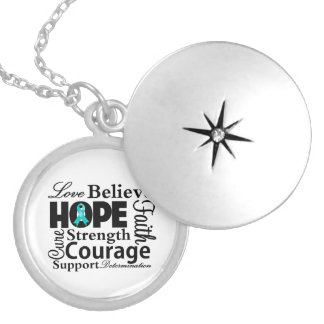 Ovarian Cancer Collage of Hope Locket