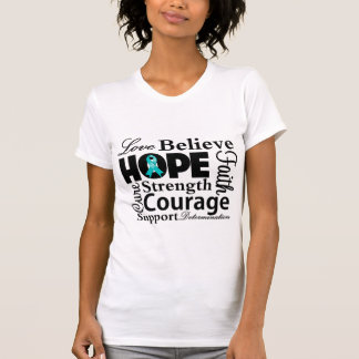 Ovarian Cancer Collage of Hope Shirts
