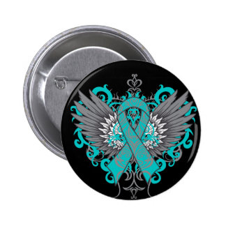 Ovarian Cancer Cool Wings 6 Cm Round Badge