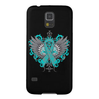 Ovarian Cancer Cool Wings Galaxy S5 Cases
