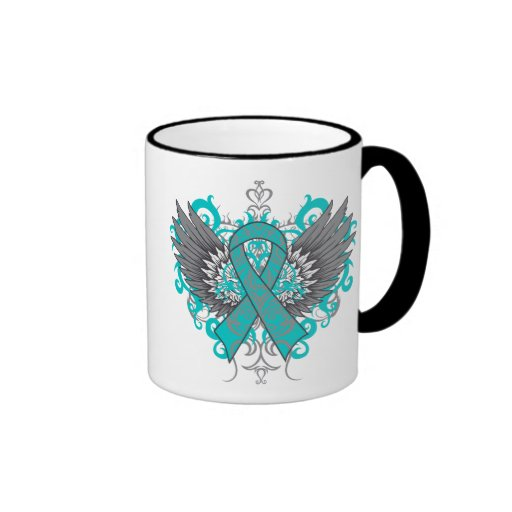 Ovarian Cancer Cool Wings Mugs