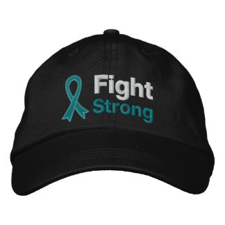 Ovarian Cancer Fight Strong Embroidered Hats