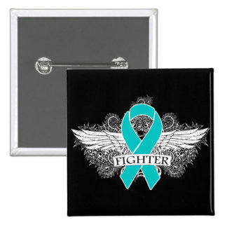 Ovarian Cancer Fighter Wings 15 Cm Square Badge