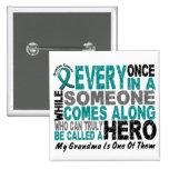Ovarian Cancer Hero Comes Along GRANDMA Pin