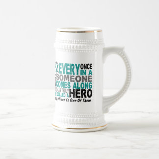Ovarian Cancer Hero Comes Along NIECE Beer Steins