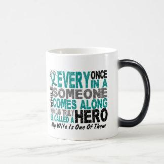 Ovarian Cancer Hero Comes Along WIFE Magic Mug